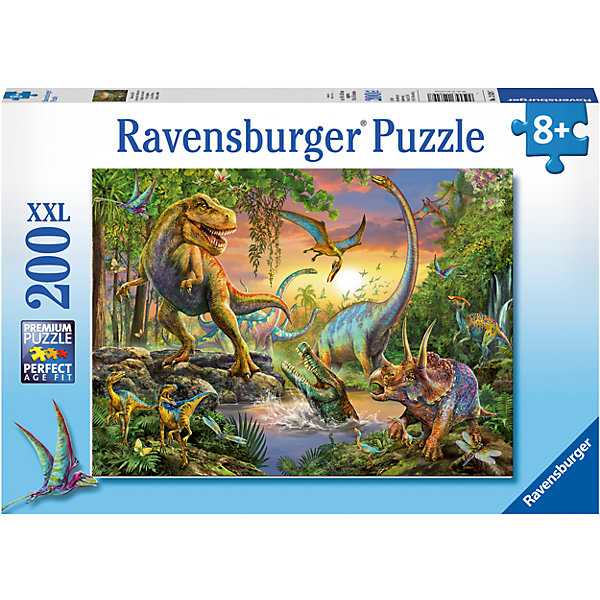 Пазл Опасные динозавры XXL 200 штПазлы классические<br>Характеристики:<br><br>• тип игрушки: пазл;<br>• комплектация: 200 эл.;<br>• бренд: Ravensburger;<br>• упаковка: картон;<br>• размер: 34х4х23 см;<br>• вес: 575 гр;<br>• возраст: от 6 лет;<br>• материал: картон.<br><br>Пазл «Опасные динозавры» XXL 200 шт представляет из себя увлекательную игру для детей от шести лет. Набор состоит из 200 деталей, выполненных из высококачественного картона. Из них предлагается собрать изображение загадочного мира динозавров. Головоломки Ravensburger всегда отличаются высоким качеством полиграфии, изготовлены из экологичного сырья.   Рисунок имеет матовую поверхность без бликов, напечатан на ламинированной бумаге. <br><br>Пазл сделан из плотного картона, с нанесением яркого красочного рисунка и аккуратной вырубкой деталей с четкими гладкими краями, которые позволяют легко состыковывать элементы пазла между собой. Сборка данного пазла сможет увлечь детей и поспособствовать развитию логического мышления и усидчивости.  Они также развивают образное мышление, наблюдательность и внимательность, а также мелкую моторику и координацию движений рук.<br><br>Пазл «Опасные динозавры» XXL 200 шт можно купить в нашем интернет-магазине.<br><br>Ширина мм: 340<br>Глубина мм: 40<br>Высота мм: 230<br>Вес г: 575<br>Возраст от месяцев: -2147483648<br>Возраст до месяцев: 2147483647<br>Пол: Унисекс<br>Возраст: Детский<br>SKU: 7376910