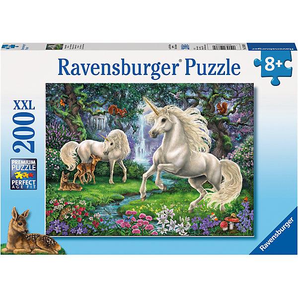 Пазл Сказочные единороги XXL 200 штПазлы до 200 деталей<br>Характеристики:<br><br>• тип игрушки: пазл;<br>• комплектация: 200 эл.;<br>• бренд: Ravensburger;<br>• упаковка: картон;<br>• размер: 34х4х23 см;<br>• вес: 575 гр;<br>• возраст: от 6 лет;<br>• материал: картон.<br><br>Пазл «Сказочные единороги» XXL 200 шт представляет из себя увлекательную игру для детей от шести лет. Набор состоит из 200 деталей, выполненных из высококачественного картона. Из них предлагается собрать изображение сказочных динозавров. Головоломки Ravensburger всегда отличаются высоким качеством полиграфии, изготовлены из экологичного сырья.   Рисунок имеет матовую поверхность без бликов, напечатан на ламинированной бумаге. <br><br>Пазл сделан из плотного картона, с нанесением яркого красочного рисунка и аккуратной вырубкой деталей с четкими гладкими краями, которые позволяют легко состыковывать элементы пазла между собой. Сборка данного пазла сможет увлечь детей и поспособствовать развитию логического мышления и усидчивости.  Они также развивают образное мышление, наблюдательность и внимательность, а также мелкую моторику и координацию движений рук.<br><br>Пазл «Сказочные единороги» XXL 200 шт можно купить в нашем интернет-магазине.<br>Ширина мм: 340; Глубина мм: 40; Высота мм: 230; Вес г: 575; Возраст от месяцев: -2147483648; Возраст до месяцев: 2147483647; Пол: Унисекс; Возраст: Детский; SKU: 7376911;