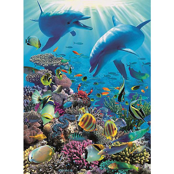 Пазл «Подводное приключение» XXL 300 штПазлы классические<br>Характеристики:<br><br>• тип игрушки: пазл;<br>• комплектация: 300 эл;<br>• размер картинки: 49х36 см;<br>• бренд: Ravensburger;<br>• упаковка: картон;<br>• размер: 23х4х34 см;<br>• вес: 544 гр;<br>• возраст: от 6 лет;<br>• материал: картон.<br><br>Пазл «Подводное приключение» XXL 300 шт представляет из себя увлекательную игру для детей от шести лет. Набор состоит из 300 деталей, выполненных из высококачественного картона. Из них предлагается собрать изображение подводного мира с коралами, рыбами, дельфинами и другими обитателями океана. Головоломки Ravensburger всегда отличаются высоким качеством полиграфии, изготовлены из экологичного сырья. Рисунок имеет матовую поверхность без бликов, напечатан на ламинированной бумаге. <br><br>Пазл сделан из плотного картона, с нанесением красочного рисунка и аккуратной вырубкой деталей с четкими гладкими краями, которые позволяют легко состыковывать элементы пазла между собой. Сборка данного пазла сможет увлечь детей и поспособствовать развитию логического мышления и усидчивости.  Они также развивают образное мышление, наблюдательность и внимательность, а также мелкую моторику и координацию движений рук.<br><br>Пазл «Подводное приключение» XXL 300 шт можно купить в нашем интернет-магазине.<br><br>Ширина мм: 230<br>Глубина мм: 40<br>Высота мм: 340<br>Вес г: 544<br>Возраст от месяцев: -2147483648<br>Возраст до месяцев: 2147483647<br>Пол: Унисекс<br>Возраст: Детский<br>SKU: 7376912