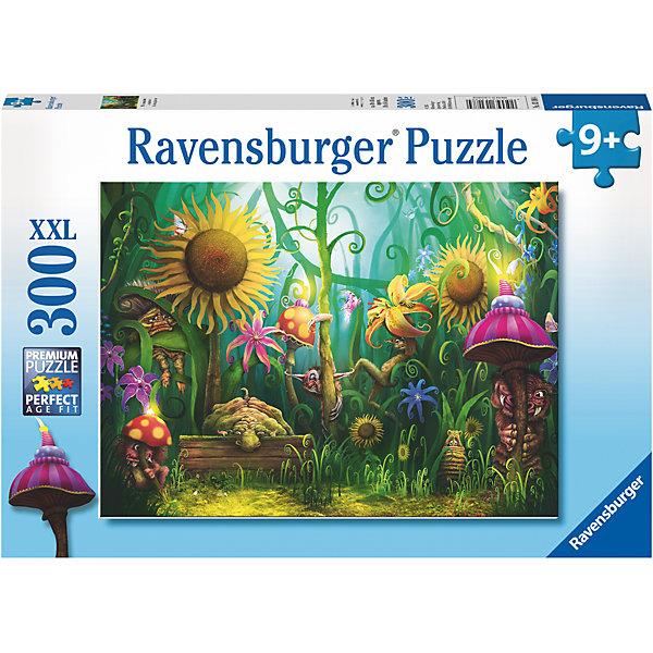 Пазл «Сказочные существа» XXL 300 штПазлы классические<br>Характеристики:<br><br>• тип игрушки: пазл;<br>• комплектация: 300 эл;<br>• размер картинки: 49х36 см;<br>• бренд: Ravensburger;<br>• упаковка: картон;<br>• размер: 34х4х23 см;<br>• вес: 548 гр;<br>• возраст: от 6 лет;<br>• материал: картон.<br><br>Пазл «Сказочные существа» XXL 300 шт представляет из себя увлекательную игру для детей от шести лет. Набор состоит из 300 деталей, выполненных из высококачественного картона. Из них предлагается собрать изображение сюрреалистичных растений и животных, которые образуют причудливый, но яркий и очень красочный лес. Головоломки Ravensburger всегда отличаются высоким качеством полиграфии, изготовлены из экологичного сырья. Рисунок имеет матовую поверхность без бликов, напечатан на ламинированной бумаге. <br><br>Пазл сделан из плотного картона, с нанесением красочного рисунка и аккуратной вырубкой деталей с четкими гладкими краями, которые позволяют легко состыковывать элементы пазла между собой. Сборка данного пазла сможет увлечь детей и поспособствовать развитию логического мышления и усидчивости.  Они также развивают образное мышление, наблюдательность и внимательность, а также мелкую моторику и координацию движений рук.<br><br>Пазл «Сказочные существа» XXL 300 шт можно купить в нашем интернет-магазине.<br>Ширина мм: 340; Глубина мм: 40; Высота мм: 230; Вес г: 548; Возраст от месяцев: -2147483648; Возраст до месяцев: 2147483647; Пол: Унисекс; Возраст: Детский; SKU: 7376922;