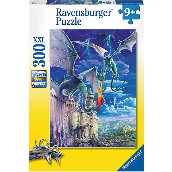 Пазл «Огнедышащий дракон» XXL 300 штПазлы до 500 деталей<br>Характеристики:<br><br>• тип игрушки: пазл;<br>• комплектация: 300 эл;<br>• размер картинки: 49х36 см;<br>• бренд: Ravensburger;<br>• упаковка: картон;<br>• размер: 23х4х34 см;<br>• вес: 548 гр;<br>• возраст: от 6 лет;<br>• материал: картон.<br><br>Пазл «Огнедышащий дракон» XXL 300 шт представляет из себя увлекательную игру для детей от шести лет. Набор состоит из 300 деталей, выполненных из высококачественного картона. Из них предлагается собрать изображение двух драконов, которые сцепились в схватке за красивый замок на фоне темного и бушующего неба. Головоломки Ravensburger всегда отличаются высоким качеством полиграфии, изготовлены из экологичного сырья. Рисунок имеет матовую поверхность без бликов, напечатан на ламинированной бумаге. <br><br>Пазл сделан из плотного картона, с нанесением красочного рисунка и аккуратной вырубкой деталей с четкими гладкими краями, которые позволяют легко состыковывать элементы пазла между собой. Сборка данного пазла сможет увлечь детей и поспособствовать развитию логического мышления и усидчивости.  Они также развивают образное мышление, наблюдательность и внимательность, а также мелкую моторику и координацию движений рук.<br><br>Пазл «Огнедышащий дракон» XXL 300 шт можно купить в нашем интернет-магазине.<br>Ширина мм: 230; Глубина мм: 40; Высота мм: 340; Вес г: 548; Возраст от месяцев: -2147483648; Возраст до месяцев: 2147483647; Пол: Унисекс; Возраст: Детский; SKU: 7376924;