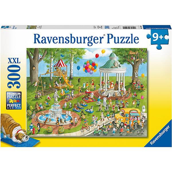 Пазл «Парк развлечений» XXL 300 штПазлы классические<br>Характеристики:<br><br>• тип игрушки: пазл;<br>• комплектация: 300 эл;<br>• размер картинки: 49х36 см;<br>• бренд: Ravensburger;<br>• упаковка: картон;<br>• размер: 34х4х23 см;<br>• вес: 548 гр;<br>• возраст: от 6 лет;<br>• материал: картон.<br><br>Пазл «Парк развлечений» XXL 300 шт представляет из себя увлекательную игру для детей от шести лет. Набор состоит из 300 деталей, выполненных из высококачественного картона. Из них предлагается собрать изображение уличного парка развлечений, который наполнен не только красивыми каруселями, но и множеством радостных детей и взрослых. Головоломки Ravensburger всегда отличаются высоким качеством полиграфии, изготовлены из экологичного сырья. Рисунок имеет матовую поверхность без бликов, напечатан на ламинированной бумаге. <br><br>Пазл сделан из плотного картона, с нанесением красочного рисунка и аккуратной вырубкой деталей с четкими гладкими краями, которые позволяют легко состыковывать элементы пазла между собой. Сборка данного пазла сможет увлечь детей и поспособствовать развитию логического мышления и усидчивости.  Они также развивают образное мышление, наблюдательность и внимательность, а также мелкую моторику и координацию движений рук.<br><br>Пазл «Парк развлечений» XXL 300 шт можно купить в нашем интернет-магазине.<br>Ширина мм: 340; Глубина мм: 40; Высота мм: 230; Вес г: 548; Возраст от месяцев: -2147483648; Возраст до месяцев: 2147483647; Пол: Унисекс; Возраст: Детский; SKU: 7376937;