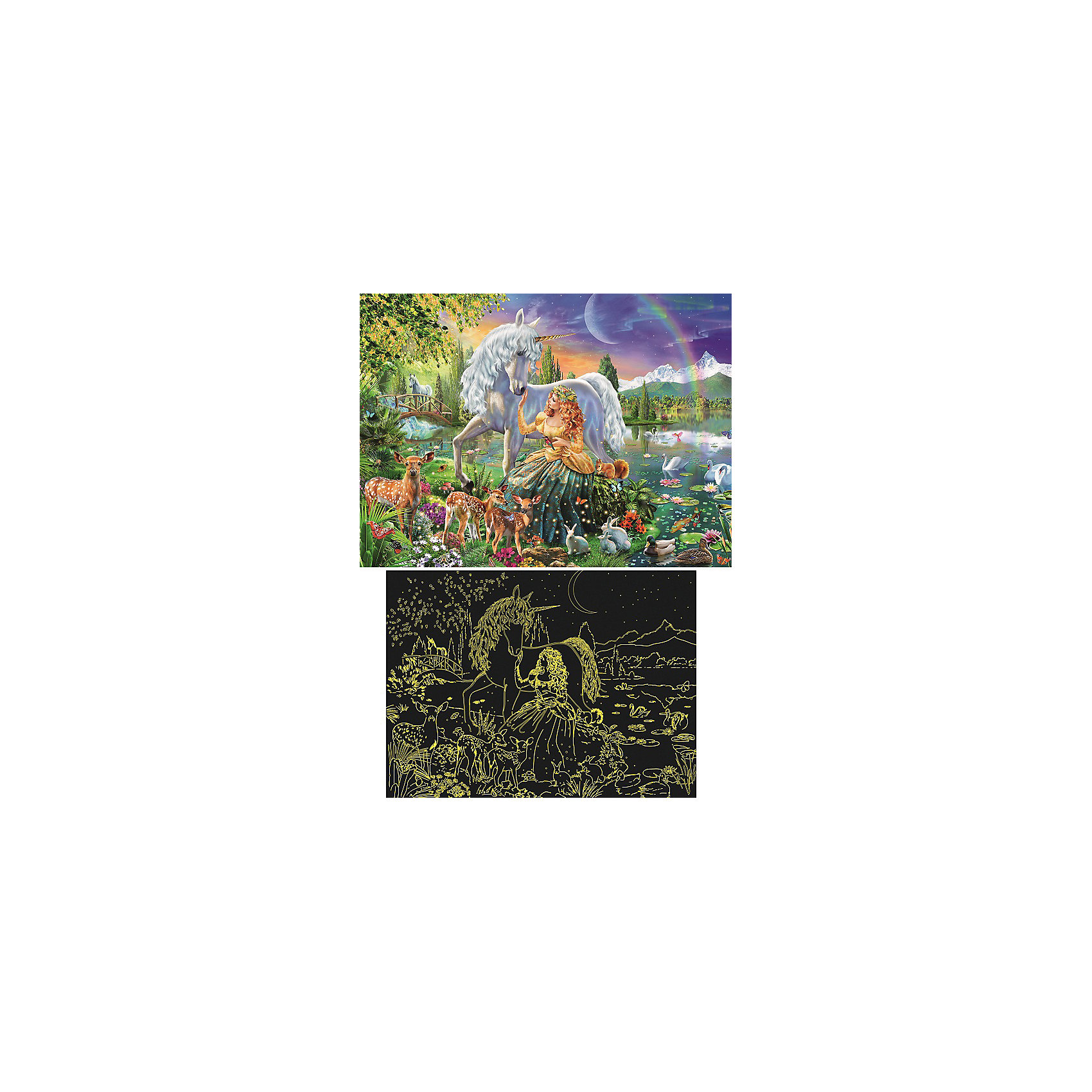 Пазл светящийся «Сказочная красота» XXL 200 шт от myToys