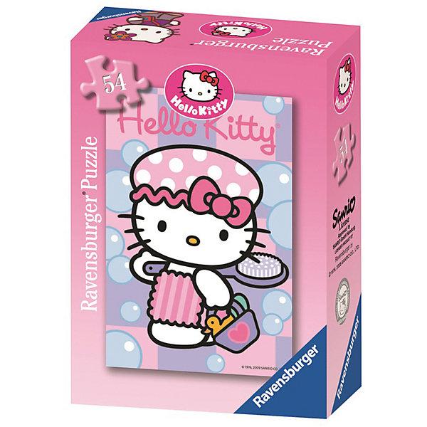 Минипазл «Хелло Китти» 54 элемента в ассортиментеПазлы для малышей<br>Характеристики:<br><br>• тип игрушки: пазл;<br>• комплектация: 54 эл;<br>• размер картинки: 20х13 см;<br>• бренд: Ravensburger;<br>• упаковка: картон;<br>• размер: 9х3х6,5 см;<br>• вес: 71 гр;<br>• возраст: от 6 лет;<br>• материал: картон.<br><br>Минипазл «Хелло Китти» 54 элемента представляет из себя увлекательную игру для детей от шести лет. Набор состоит из 54 деталей, выполненных из высококачественного картона. Из них предлагается собрать изображение маленькой герони мультсериала Китти. <br><br>Головоломки Ravensburger всегда отличаются высоким качеством полиграфии, изготовлены из экологичного сырья. Рисунок имеет матовую поверхность без бликов, напечатан на ламинированной бумаге. Пазл сделан из плотного картона, с нанесением красочного рисунка и аккуратной вырубкой деталей с четкими гладкими краями, которые позволяют легко состыковывать элементы пазла между собой. <br><br>Сборка данного пазла сможет увлечь детей и поспособствовать развитию логического мышления и усидчивости.  Они также развивают образное мышление, наблюдательность и внимательность, а также мелкую моторику и координацию движений рук.<br><br>Минипазл «Хелло Китти» 54 элемента можно купить в нашем интернет-магазине.<br><br>Ширина мм: 90<br>Глубина мм: 30<br>Высота мм: 65<br>Вес г: 71<br>Возраст от месяцев: -2147483648<br>Возраст до месяцев: 2147483647<br>Пол: Женский<br>Возраст: Детский<br>SKU: 7376945
