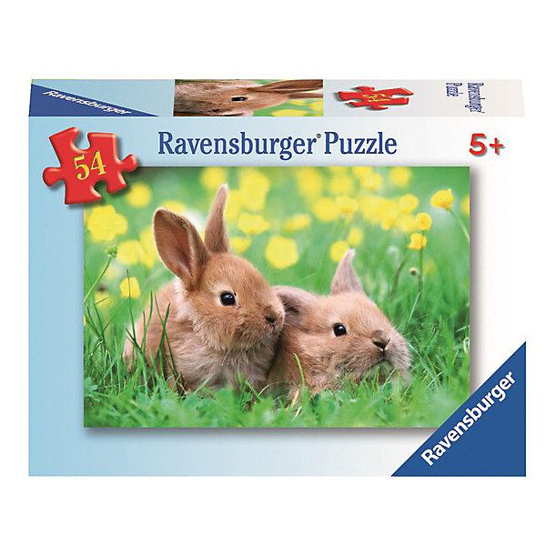 Минипазл «Детеныши животных» 54 элемента в ассортиментеПазлы до 64 деталей<br>Характеристики:<br><br>• тип игрушки: пазл;<br>• комплектация: 54 эл;<br>• размер картинки: 20х13 см;<br>• бренд: Ravensburger;<br>• упаковка: картон;<br>• размер: 9х3х6,5 см;<br>• вес: 72 гр;<br>• возраст: от 6 лет;<br>• материал: картон.<br><br>Минипазл «Детеныши животных» 54 элемента представляет из себя увлекательную игру для детей от шести лет. Набор состоит из 54 деталей, выполненных из высококачественного картона. Из них предлагается собрать изображение двух маленьких коричневых зайчат, которые сидят в зеленой травке.     <br><br>Головоломки Ravensburger всегда отличаются высоким качеством полиграфии, изготовлены из экологичного сырья. Рисунок имеет матовую поверхность без бликов, напечатан на ламинированной бумаге. Пазл сделан из плотного картона, с нанесением красочного рисунка и аккуратной вырубкой деталей с четкими гладкими краями, которые позволяют легко состыковывать элементы пазла между собой. <br><br>Сборка данного пазла сможет увлечь детей и поспособствовать развитию логического мышления и усидчивости.  Они также развивают образное мышление, наблюдательность и внимательность, а также мелкую моторику и координацию движений рук.<br><br>Минипазл «Детеныши животных» 54 элемента можно купить в нашем интернет-магазине.<br>Ширина мм: 90; Глубина мм: 30; Высота мм: 65; Вес г: 72; Возраст от месяцев: -2147483648; Возраст до месяцев: 2147483647; Пол: Унисекс; Возраст: Детский; SKU: 7376949;