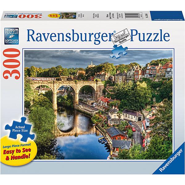Пазл «Мост над рекой»  300 штПазлы до 500 деталей<br>Характеристики:<br><br>• тип игрушки: пазл;<br>• комплектация: 300 эл;<br>• размер картинки: 68х50 см;<br>• бренд: Ravensburger;<br>• упаковка: картон;<br>• размер: 34х6х23 см;<br>• вес: 890 гр;<br>• возраст: от 6 лет;<br>• материал: картон.<br><br>Пазл «Мост над рекой» 300 элемента представляет из себя увлекательную игру для детей от шести лет. Набор состоит из 300 деталей, выполненных из высококачественного картона. Из них предлагается собрать изображение красивого старого моста, который расположен в красивой зеленой долине около деревушки.          <br>Головоломки Ravensburger всегда отличаются высоким качеством полиграфии, изготовлены из экологичного сырья. Рисунок имеет матовую поверхность без бликов, напечатан на ламинированной бумаге. Пазл сделан из плотного картона, с нанесением красочного рисунка и аккуратной вырубкой деталей с четкими гладкими краями, которые позволяют легко состыковывать элементы пазла между собой. <br>Сборка данного пазла сможет увлечь детей и поспособствовать развитию логического мышления и усидчивости.  Они также развивают образное мышление, наблюдательность и внимательность, а также мелкую моторику и координацию движений рук.<br>Пазл «Мост над рекой» 300 элемента можно купить в нашем интернет-магазине.<br>Ширина мм: 340; Глубина мм: 60; Высота мм: 230; Вес г: 890; Возраст от месяцев: -2147483648; Возраст до месяцев: 2147483647; Пол: Унисекс; Возраст: Детский; SKU: 7376956;