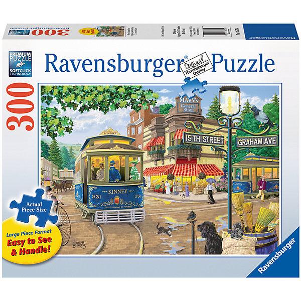 Пазл «Магазин Мэри»  300 штПазлы классические<br>Характеристики:<br><br>• тип игрушки: пазл;<br>• комплектация: 300 эл;<br>• размер картинки: 68х50 см;<br>• бренд: Ravensburger;<br>• упаковка: картон;<br>• размер: 34х6х23 см;<br>• вес: 919 гр;<br>• возраст: от 6 лет;<br>• материал: картон.<br><br>Пазл «Магазин Мэри» 300 элемента представляет из себя увлекательную игру для детей от шести лет. Набор состоит из 300 деталей, выполненных из высококачественного картона. Из них предлагается собрать изображение маленького городка где-то в Европе. На картинке старый синий трамвайчик на углу улицы и, конечно же, сам магазинчик Мэри, который приветливыми огнями привлекает взгляды гуляющих по улице людей.             <br>Головоломки Ravensburger всегда отличаются высоким качеством полиграфии, изготовлены из экологичного сырья. Рисунок имеет матовую поверхность без бликов, напечатан на ламинированной бумаге. Пазл сделан из плотного картона, с нанесением красочного рисунка и аккуратной вырубкой деталей с четкими гладкими краями, которые позволяют легко состыковывать элементы пазла между собой. <br>Сборка данного пазла сможет увлечь детей и поспособствовать развитию логического мышления и усидчивости.  Они также развивают образное мышление, наблюдательность и внимательность, а также мелкую моторику и координацию движений рук.<br>Пазл «Магазин Мэри» 300 элемента можно купить в нашем интернет-магазине.<br>Ширина мм: 340; Глубина мм: 60; Высота мм: 230; Вес г: 919; Возраст от месяцев: -2147483648; Возраст до месяцев: 2147483647; Пол: Унисекс; Возраст: Детский; SKU: 7376959;