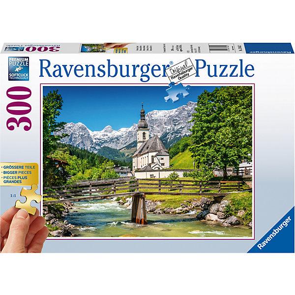 Пазл Рамзау, Бавария 300 штПазлы классические<br>Характеристики:<br><br>• тип игрушки: пазл;<br>• комплектация: 300 эл;<br>• размер картинки: 68х50 см;<br>• бренд: Ravensburger;<br>• упаковка: картон;<br>• размер: 34х6х23 см;<br>• вес: 663 гр;<br>• возраст: от 6 лет;<br>• материал: картон.<br><br>Пазл «Рамзау, Бавария» 300 элементов представляет из себя увлекательную игру для детей от шести лет. Набор состоит из 300 деталей, выполненных из высококачественного картона. Из них предлагается собрать изображение маленькой части городка Рамзау в Баварии. Тут и красивые горные виды, и прекрасная речушка, и яркий лес. <br>Головоломки Ravensburger всегда отличаются высоким качеством полиграфии, изготовлены из экологичного сырья. Рисунок имеет матовую поверхность без бликов, напечатан на ламинированной бумаге. Пазл сделан из плотного картона, с нанесением красочного рисунка и аккуратной вырубкой деталей с четкими гладкими краями, которые позволяют легко состыковывать элементы пазла между собой. Сборка данного пазла сможет увлечь детей и поспособствовать развитию логического мышления и усидчивости.  Они также развивают образное мышление, наблюдательность и внимательность, а также мелкую моторику и координацию движений рук.<br>Пазл «Рамзау, Бавария» 300 элементов можно купить в нашем интернет-магазине.<br><br>Ширина мм: 340<br>Глубина мм: 60<br>Высота мм: 230<br>Вес г: 663<br>Возраст от месяцев: -2147483648<br>Возраст до месяцев: 2147483647<br>Пол: Унисекс<br>Возраст: Детский<br>SKU: 7376964