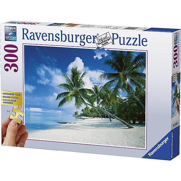 Пазл Бора-Бора, Тихий океан 300 штПазлы до 500 деталей<br>Характеристики:<br><br>• тип игрушки: пазл;<br>• комплектация: 300 эл;<br>• бренд: Ravensburger;<br>• упаковка: картон;<br>• размер: 34х6х23 см;<br>• вес: 617 гр;<br>• возраст: от 6 лет;<br>• материал: картон.<br><br>Пазл «Бора-Бора, Тихий океан» 300 элементов представляет из себя увлекательную игру для детей от шести лет. Набор состоит из 300 деталей, выполненных из высококачественного картона. Из них предлагается собрать изображение одного из самых популярных островов Тихого океана – Бора-Бора. Белый песчаный пляж, голубая вода и, конечно же, красивые пальмы – такой пейзаж станет настоящим украшением дома и будет повышать настроение при одном взгляде на него.     <br>Головоломки Ravensburger всегда отличаются высоким качеством полиграфии, изготовлены из экологичного сырья. Собранный пазл будет иметь матовую поверхность без бликов, потому как напечатан на качественной ламинированной бумаге. Пазл сделан из плотного картона, с нанесением красочного рисунка и аккуратной вырубкой деталей с четкими гладкими краями, которые позволяют легко состыковывать элементы пазла между собой. Сборка данного пазла сможет увлечь детей и поспособствовать развитию логического мышления и усидчивости.  Они также развивают образное мышление, наблюдательность и внимательность, а также мелкую моторику и координацию движений рук.<br>Пазл «Бора-Бора, Тихий океан» 300 элементов можно купить в нашем интернет-магазине.<br>Ширина мм: 340; Глубина мм: 60; Высота мм: 230; Вес г: 617; Возраст от месяцев: -2147483648; Возраст до месяцев: 2147483647; Пол: Унисекс; Возраст: Детский; SKU: 7376969;