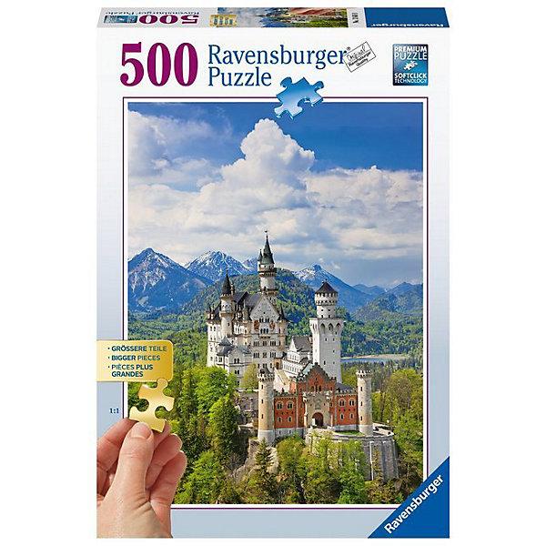 Пазл «Замок в горах» 500 штПазлы до 500 деталей<br>Характеристики:<br><br>• тип игрушки: пазл;<br>• комплектация: 500 эл;<br>• бренд: Ravensburger;<br>• упаковка: картон;<br>• размер: 34х4х23 см;<br>• вес: 751 гр;<br>• возраст: от 6 лет;<br>• материал: картон.<br><br>Пазл «Замок в горах» 500 элементов представляет из себя увлекательную игру для детей от шести лет. Набор состоит из 500 деталей, выполненных из высококачественного картона. Из них предлагается собрать изображение старинного замка, который стоит на вершине холма в окружении густого леса. Такой пейзаж станет настоящим украшением дома и будет повышать настроение при одном взгляде на него.     <br>Головоломки Ravensburger всегда отличаются высоким качеством полиграфии, изготовлены из экологичного сырья. Собранный пазл будет иметь матовую поверхность без бликов, потому как напечатан на качественной ламинированной бумаге. Пазл сделан из плотного картона, с нанесением красочного рисунка и аккуратной вырубкой деталей с четкими гладкими краями, которые позволяют легко состыковывать элементы пазла между собой. Сборка данного пазла сможет увлечь детей и поспособствовать развитию логического мышления и усидчивости.  Они также развивают образное мышление, наблюдательность и внимательность, а также мелкую моторику и координацию движений рук.<br>Пазл «Замок в горах» 500 элементов можно купить в нашем интернет-магазине.<br>Ширина мм: 340; Глубина мм: 40; Высота мм: 230; Вес г: 751; Возраст от месяцев: -2147483648; Возраст до месяцев: 2147483647; Пол: Унисекс; Возраст: Детский; SKU: 7376970;