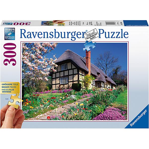 Пазл «Весной загородом» 300 штПазлы до 500 деталей<br>Характеристики:<br><br>• тип игрушки: пазл;<br>• комплектация: 300 эл.;<br>• бренд: Ravensburger;<br>• упаковка: картон;<br>• размер: 34х4х23 см;<br>• вес: 610 гр;<br>• возраст: от 4 лет;<br>• материал: картон.<br><br>Пазл «Весной загородом» 300 шт представляет из себя увлекательную игру для детей от четырех лет. Набор состоит из 300 деталей, выполненных из высококачественного картона. Из них предлагается собрать изображение сказочного домика и природы.<br><br>Пазл сделан из плотного картона, с нанесением яркого красочного рисунка и аккуратной вырубкой деталей с четкими гладкими краями, которые позволяют легко состыковывать элементы пазла между собой. Сборка данного пазла сможет увлечь детей и поспособствовать развитию логического мышления и усидчивости.  Они также развивают образное мышление, наблюдательность и внимательность, а также мелкую моторику и координацию движений рук.<br><br>Пазл «Весной загородом» 300 шт можно купить в нашем интернет-магазине.<br>Ширина мм: 340; Глубина мм: 40; Высота мм: 230; Вес г: 610; Возраст от месяцев: -2147483648; Возраст до месяцев: 2147483647; Пол: Унисекс; Возраст: Детский; SKU: 7376972;