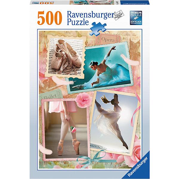 Пазл Прима-балерина 500 штПазлы до 500 деталей<br>Характеристики:<br><br>• тип игрушки: пазл;<br>• комплектация: 500 эл;<br>• бренд: Ravensburger;<br>• упаковка: картон;<br>• размер: 34х4х23 см;<br>• вес: 583 гр;<br>• возраст: от 6 лет;<br>• материал: картон.<br><br>Пазл «Прима-балерина» 500 элементов представляет из себя увлекательную игру для детей от шести лет. Набор состоит из 500 деталей, выполненных из высококачественного картона. Из них предлагается собрать изображение балерин и пуант.       <br>Головоломки Ravensburger всегда отличаются высоким качеством полиграфии, изготовлены из экологичного сырья. Собранный пазл будет иметь матовую поверхность без бликов, потому как напечатан на качественной ламинированной бумаге. Пазл сделан из плотного картона, с нанесением красочного рисунка и аккуратной вырубкой деталей с четкими гладкими краями, которые позволяют легко состыковывать элементы пазла между собой. Сборка данного пазла сможет увлечь детей и поспособствовать развитию логического мышления и усидчивости.  Они также развивают образное мышление, наблюдательность и внимательность, а также мелкую моторику и координацию движений рук.<br>Пазл «Прима-балерина» 500 элементов можно купить в нашем интернет-магазине.<br>Ширина мм: 230; Глубина мм: 40; Высота мм: 340; Вес г: 583; Возраст от месяцев: -2147483648; Возраст до месяцев: 2147483647; Пол: Унисекс; Возраст: Детский; SKU: 7376991;