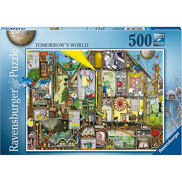 Пазл «Мир будущего» 500 штПазлы классические<br>Характеристики:<br><br>• тип игрушки: пазл;<br>• комплектация: 500 эл;<br>• бренд: Ravensburger;<br>• упаковка: картон;<br>• размер: 23х4х34 см;<br>• вес: 571 гр;<br>• возраст: от 6 лет;<br>• материал: картон.<br><br>Пазл «Мир будущего» 500 элементов представляет из себя увлекательную игру для детей от шести лет. Набор состоит из 500 деталей, выполненных из высококачественного картона. Из них предлагается собрать изображение замысловатого дома в котором множество различных механизмов и приспособлений. Все они соединены в один общий механизм, который помогает дому из будущего работать.  <br>Головоломки Ravensburger всегда отличаются высоким качеством полиграфии, изготовлены из экологичного сырья. Собранный пазл будет иметь матовую поверхность без бликов, потому как напечатан на качественной ламинированной бумаге. Пазл сделан из плотного картона, с нанесением красочного рисунка и аккуратной вырубкой деталей с четкими гладкими краями, которые позволяют легко состыковывать элементы пазла между собой. Сборка данного пазла сможет увлечь детей и поспособствовать развитию логического мышления и усидчивости.  Они также развивают образное мышление, наблюдательность и внимательность, а также мелкую моторику и координацию движений рук.<br>Пазл «Мир будущего» 500 элементов можно купить в нашем интернет-магазине.<br>Ширина мм: 230; Глубина мм: 40; Высота мм: 340; Вес г: 571; Возраст от месяцев: -2147483648; Возраст до месяцев: 2147483647; Пол: Унисекс; Возраст: Детский; SKU: 7377002;