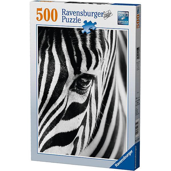 Пазл «Пронзительный взгляд» 500 штПазлы до 500 деталей<br>Характеристики:<br><br>• тип игрушки: пазл;<br>• комплектация: 500 эл;<br>• бренд: Ravensburger;<br>• упаковка: картон;<br>• размер: 23х4х34 см;<br>• вес: 587 гр;<br>• возраст: от 6 лет;<br>• материал: картон.<br><br>Пазл «Пронзительный взгляд» 500 элементов представляет из себя увлекательную игру для детей от шести лет. Набор состоит из 500 деталей, выполненных из высококачественного картона. Из них предлагается собрать изображение зебры, которая смотрит на зрителя своим пронзительным, но очень добрым взглядом.   <br>Головоломки Ravensburger всегда отличаются высоким качеством полиграфии, изготовлены из экологичного сырья. Собранный пазл будет иметь матовую поверхность без бликов, потому как напечатан на качественной ламинированной бумаге. Пазл сделан из плотного картона, с нанесением красочного рисунка и аккуратной вырубкой деталей с четкими гладкими краями, которые позволяют легко состыковывать элементы пазла между собой. Сборка данного пазла сможет увлечь детей и поспособствовать развитию логического мышления и усидчивости.  Они также развивают образное мышление, наблюдательность и внимательность, а также мелкую моторику и координацию движений рук.<br>Пазл «Пронзительный взгляд» 500 элементов можно купить в нашем интернет-магазине.<br>Ширина мм: 230; Глубина мм: 40; Высота мм: 340; Вес г: 587; Возраст от месяцев: -2147483648; Возраст до месяцев: 2147483647; Пол: Унисекс; Возраст: Детский; SKU: 7377003;