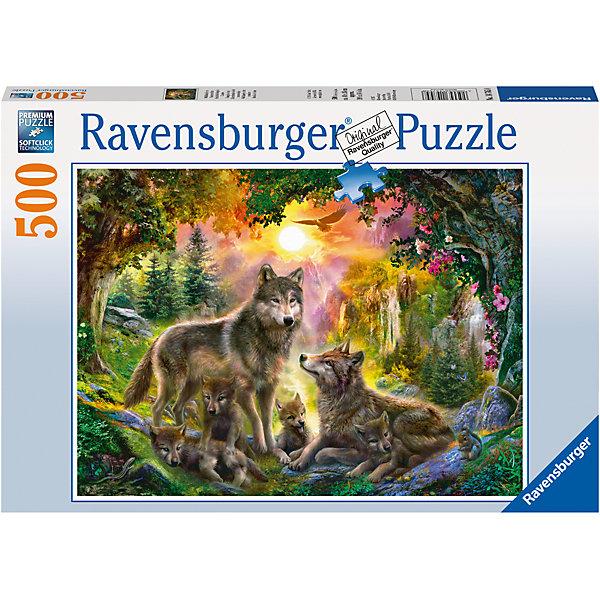 Пазл «Семья волков в лесу» 500 штПазлы классические<br>Характеристики:<br><br>• тип игрушки: пазл;<br>• комплектация: 500 эл.;<br>• бренд: Ravensburger;<br>• упаковка: картон;<br>• размер: 34х4х23 см;<br>• вес: 583 гр;<br>• возраст: от 4 лет;<br>• материал: картон.<br><br>Пазл «Семья волков в лесу» 500 шт представляет из себя увлекательную игру для детей от четырех лет. Набор состоит из 500 деталей, выполненных из высококачественного картона. Из них предлагается собрать  изображение волков в лесу.<br><br>Пазл сделан из плотного картона, с нанесением яркого красочного рисунка и аккуратной вырубкой деталей с четкими гладкими краями, которые позволяют легко состыковывать элементы пазла между собой. Сборка данного пазла сможет увлечь детей и поспособствовать развитию логического мышления и усидчивости.  Они также развивают образное мышление, наблюдательность и внимательность, а также мелкую моторику и координацию движений рук.<br><br>Пазл «Семья волков в лесу» 500 шт можно купить в нашем интернет-магазине.<br>Ширина мм: 340; Глубина мм: 40; Высота мм: 230; Вес г: 583; Возраст от месяцев: -2147483648; Возраст до месяцев: 2147483647; Пол: Унисекс; Возраст: Детский; SKU: 7377007;