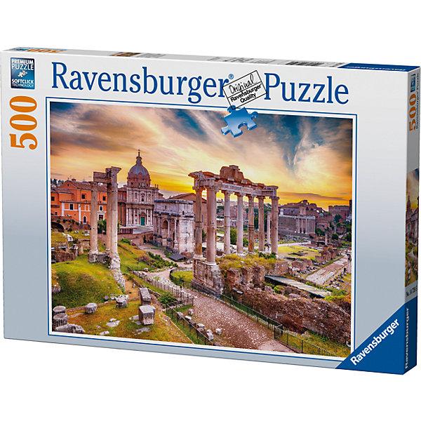Пазл «Рим в сумерках» 500 штПазлы классические<br>Характеристики:<br><br>• тип игрушки: пазл;<br>• комплектация: 500 эл;<br>• бренд: Ravensburger;<br>• упаковка: картон;<br>• размер: 34х4х23 см;<br>• вес: 587 гр;<br>• возраст: от 6 лет;<br>• материал: картон.<br><br>Пазл «Рим в сумерках» 500 элементов представляет из себя увлекательную игру для детей от шести лет. Набор состоит из 500 деталей, выполненных из высококачественного картона. Из них предлагается собрать изображение одного из самых красивых городов Европы – Рима на закате. Такой городской пейзаж станет отличным украшением любого интерьера.      <br>Головоломки Ravensburger всегда отличаются высоким качеством полиграфии, изготовлены из экологичного сырья. Собранный пазл будет иметь матовую поверхность без бликов, потому как напечатан на качественной ламинированной бумаге. Пазл сделан из плотного картона, с нанесением красочного рисунка и аккуратной вырубкой деталей с четкими гладкими краями, которые позволяют легко состыковывать элементы пазла между собой. Сборка данного пазла сможет увлечь детей и поспособствовать развитию логического мышления и усидчивости.  Они также развивают образное мышление, наблюдательность и внимательность, а также мелкую моторику и координацию движений рук.<br>Пазл «Рим в сумерках» 500 элементов можно купить в нашем интернет-магазине.<br><br>Ширина мм: 340<br>Глубина мм: 40<br>Высота мм: 230<br>Вес г: 587<br>Возраст от месяцев: -2147483648<br>Возраст до месяцев: 2147483647<br>Пол: Унисекс<br>Возраст: Детский<br>SKU: 7377014