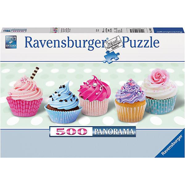 Пазл панорамный «Капкейки» 500 штПазлы классические<br>Характеристики:<br><br>• тип игрушки: пазл;<br>• комплектация: 500 эл.;<br>• бренд: Ravensburger;<br>• упаковка: картон;<br>• размер: 34х4х23 см;<br>• вес: 583 гр;<br>• возраст: от 4 лет;<br>• материал: картон.<br><br>Пазл панорамный «Капкейки» 500 шт представляет из себя увлекательную игру для детей от четырех лет. Набор состоит из 500 деталей, выполненных из высококачественного картона. Из них предлагается собрать  изображение маленьких и аппетитных кексиков-пирожных. Панорамный вид делает картину еще более интересной.<br> <br>Пазл сделан из плотного картона, с нанесением яркого красочного рисунка и аккуратной вырубкой деталей с четкими гладкими краями, которые позволяют легко состыковывать элементы пазла между собой. Сборка данного пазла сможет увлечь детей и поспособствовать развитию логического мышления и усидчивости.  Они также развивают образное мышление, наблюдательность и внимательность, а также мелкую моторику и координацию движений рук. Собранную картинку можно поместить в рамку и использовать ее в качестве украшения интерьера.<br><br>Пазл панорамный «Капкейки» 500 шт можно купить в нашем интернет-магазине.<br>Ширина мм: 340; Глубина мм: 40; Высота мм: 230; Вес г: 583; Возраст от месяцев: -2147483648; Возраст до месяцев: 2147483647; Пол: Унисекс; Возраст: Детский; SKU: 7377016;