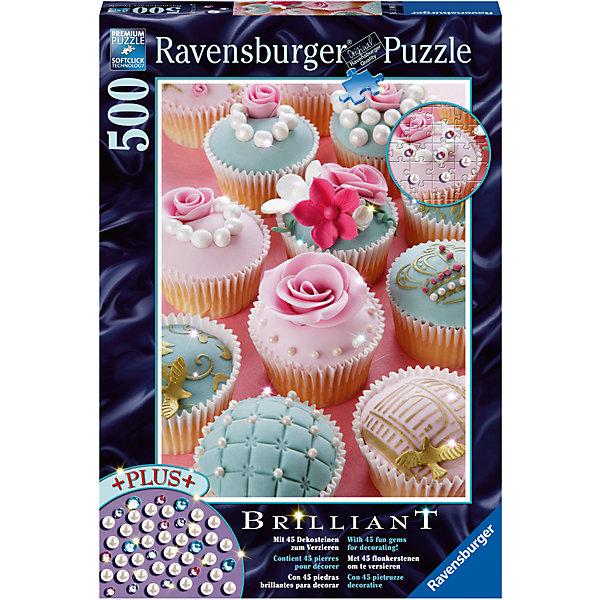 Пазл «Жемчужные капкейки» 500 штПазлы классические<br>Характеристики:<br><br>• тип игрушки: пазл;<br>• комплектация: 500 эл.;<br>• бренд: Ravensburger;<br>• упаковка: картон;<br>• размер: 34х4х23 см;<br>• вес: 570 гр;<br>• возраст: от 4 лет;<br>• материал: картон.<br><br>Пазл «Жемчужные капкейки» 500 шт представляет из себя увлекательную игру для детей от четырех лет. Набор состоит из 500 деталей, выполненных из высококачественного картона. Из них предлагается собрать  изображение красивых и нежных кексиков.<br> <br>Пазл сделан из плотного картона, с нанесением яркого красочного рисунка и аккуратной вырубкой деталей с четкими гладкими краями, которые позволяют легко состыковывать элементы пазла между собой. Сборка данного пазла сможет увлечь детей и поспособствовать развитию логического мышления и усидчивости.  Они также развивают образное мышление, наблюдательность и внимательность, а также мелкую моторику и координацию движений рук. Собранную картинку можно поместить в рамку и использовать ее в качестве украшения интерьера.<br><br>Пазл «Жемчужные капкейки» 500 шт можно купить в нашем интернет-магазине.<br>Ширина мм: 340; Глубина мм: 40; Высота мм: 230; Вес г: 570; Возраст от месяцев: -2147483648; Возраст до месяцев: 2147483647; Пол: Унисекс; Возраст: Детский; SKU: 7377026;