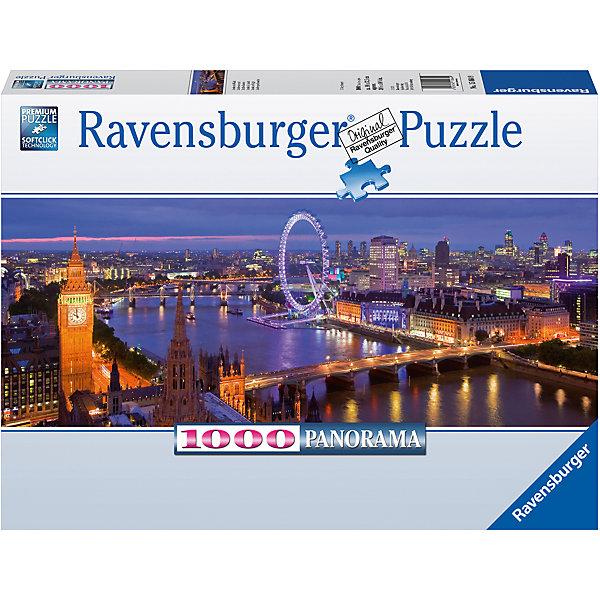 Пазл панорамный Ночной Лондон 1000 штПазлы до 1000 деталей<br>Характеристики:<br><br>• тип игрушки: пазл;<br>• комплектация: 1000 эл.;<br>• бренд: Ravensburger;<br>• упаковка: картон;<br>• размер: 37х5,5х27 см;<br>• вес: 1 кг;<br>• возраст: от 4 лет;<br>• материал: картон.<br><br>Пазл панорамный «Ночной Лондон» 1000 шт представляет из себя увлекательную игру для детей от четырех лет. Набор состоит из 1000 деталей, выполненных из высококачественного картона. Из них предлагается собрать  изображение изысканного города Лондона.<br><br>Пазл сделан из плотного картона, с нанесением яркого красочного рисунка и аккуратной вырубкой деталей с четкими гладкими краями, которые позволяют легко состыковывать элементы пазла между собой. Сборка данного пазла сможет увлечь детей и поспособствовать развитию логического мышления и усидчивости.  Они также развивают образное мышление, наблюдательность и внимательность, а также мелкую моторику и координацию движений рук. Собранную картинку можно поместить в рамку и использовать ее в качестве украшения интерьера.<br><br>Пазл панорамный «Ночной Лондон» 1000 шт можно купить в нашем интернет-магазине.<br><br>Ширина мм: 370<br>Глубина мм: 55<br>Высота мм: 270<br>Вес г: 1000<br>Возраст от месяцев: -2147483648<br>Возраст до месяцев: 2147483647<br>Пол: Унисекс<br>Возраст: Детский<br>SKU: 7377035