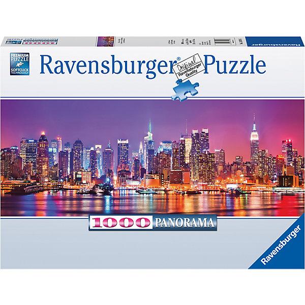 Пазл панорамный Огни ночного Манхеттэна 1000 штПазлы классические<br>Характеристики:<br><br>• тип игрушки: пазл;<br>• комплектация: 1000 эл.;<br>• бренд: Ravensburger;<br>• упаковка: картон;<br>• размер: 37х5,5х27 см;<br>• вес: 1 кг;<br>• возраст: от 4 лет;<br>• материал: картон.<br><br>Пазл панорамный «Огни ночного Манхеттэна» 1000 шт представляет из себя увлекательную игру для детей от четырех лет. Набор состоит из 1000 деталей, выполненных из высококачественного картона. Из них предлагается собрать  изображение ночного города Манхеттэна.<br><br>Пазл сделан из плотного картона, с нанесением яркого красочного рисунка и аккуратной вырубкой деталей с четкими гладкими краями, которые позволяют легко состыковывать элементы пазла между собой. Сборка данного пазла сможет увлечь детей и поспособствовать развитию логического мышления и усидчивости.  Они также развивают образное мышление, наблюдательность и внимательность, а также мелкую моторику и координацию движений рук. Собранную картинку можно поместить в рамку и использовать ее в качестве украшения интерьера.<br><br>Пазл панорамный «Огни ночного Манхеттэна» 1000 шт можно купить в нашем интернет-магазине.<br>Ширина мм: 370; Глубина мм: 55; Высота мм: 270; Вес г: 1000; Возраст от месяцев: -2147483648; Возраст до месяцев: 2147483647; Пол: Унисекс; Возраст: Детский; SKU: 7377038;