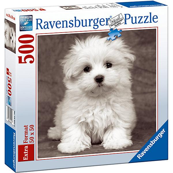 Пазл «Щенок мальтийской болонки» 500 штСимвол года<br>Характеристики:<br><br>• тип игрушки: пазл;<br>• комплектация: 500 эл.;<br>• бренд: Ravensburger;<br>• упаковка: картон;<br>• размер: 37х5,5х27 см;<br>• вес: 673 гр;<br>• возраст: от 4 лет;<br>• материал: картон.<br><br>Пазл «Щенок мальтийской болонки» 500 шт представляет из себя увлекательную игру для детей от четырех лет. Набор состоит из 500 деталей, выполненных из высококачественного картона. Из них предлагается собрать  изображение милого щенка.<br><br>Пазл сделан из плотного картона, с нанесением яркого красочного рисунка и аккуратной вырубкой деталей с четкими гладкими краями, которые позволяют легко состыковывать элементы пазла между собой. Сборка данного пазла сможет увлечь детей и поспособствовать развитию логического мышления и усидчивости.  Они также развивают образное мышление, наблюдательность и внимательность, а также мелкую моторику и координацию движений рук. Собранную картинку можно поместить в рамку и использовать ее в качестве украшения интерьера.<br><br>Пазл «Щенок мальтийской болонки» 500 шт можно купить в нашем интернет-магазине.<br>Ширина мм: 370; Глубина мм: 55; Высота мм: 270; Вес г: 673; Возраст от месяцев: -2147483648; Возраст до месяцев: 2147483647; Пол: Унисекс; Возраст: Детский; SKU: 7377043;