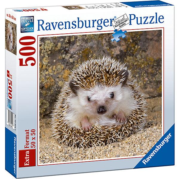 Пазл «Милый ёжик» 500 штПазлы классические<br>Характеристики:<br><br>• тип игрушки: пазл;<br>• комплектация: 500 эл.;<br>• бренд: Ravensburger;<br>• упаковка: картон;<br>• размер: 37х5,5х27 см;<br>• вес: 673 гр;<br>• возраст: от 4 лет;<br>• материал: картон.<br><br>Пазл «Милый ёжик» 500 шт представляет из себя увлекательную игру для детей от четырех лет. Набор состоит из 500 деталей, выполненных из высококачественного картона. Из них предлагается собрать  изображение милого ежика.<br><br>Пазл сделан из плотного картона, с нанесением яркого красочного рисунка и аккуратной вырубкой деталей с четкими гладкими краями, которые позволяют легко состыковывать элементы пазла между собой. Сборка данного пазла сможет увлечь детей и поспособствовать развитию логического мышления и усидчивости.  Они также развивают образное мышление, наблюдательность и внимательность, а также мелкую моторику и координацию движений рук. Собранную картинку можно поместить в рамку и использовать ее в качестве украшения интерьера.<br><br>Пазл «Милый ёжик» 500 шт можно купить в нашем интернет-магазине.<br>Ширина мм: 370; Глубина мм: 55; Высота мм: 270; Вес г: 673; Возраст от месяцев: -2147483648; Возраст до месяцев: 2147483647; Пол: Унисекс; Возраст: Детский; SKU: 7377044;