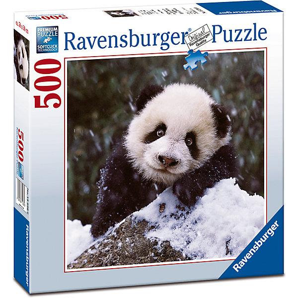 Пазл «Малыш-панда» 500 штПазлы до 500 деталей<br>Характеристики:<br><br>• тип игрушки: пазл;<br>• комплектация: 500 эл.;<br>• бренд: Ravensburger;<br>• упаковка: картон;<br>• размер: 37х5,5х27 см;<br>• вес: 673 гр;<br>• возраст: от 4 лет;<br>• материал: картон.<br><br>Пазл «Малыш-панда» 500 шт представляет из себя увлекательную игру для детей от четырех лет. Набор состоит из 500 деталей, выполненных из высококачественного картона. Из них предлагается собрать  изображение красивого малыша панды.<br><br>Пазл сделан из плотного картона, с нанесением яркого красочного рисунка и аккуратной вырубкой деталей с четкими гладкими краями, которые позволяют легко состыковывать элементы пазла между собой. Сборка данного пазла сможет увлечь детей и поспособствовать развитию логического мышления и усидчивости.  Они также развивают образное мышление, наблюдательность и внимательность, а также мелкую моторику и координацию движений рук. Собранную картинку можно поместить в рамку и использовать ее в качестве украшения интерьера.<br><br>Пазл «Малыш-панда» 500 шт можно купить в нашем интернет-магазине.<br>Ширина мм: 370; Глубина мм: 55; Высота мм: 270; Вес г: 673; Возраст от месяцев: -2147483648; Возраст до месяцев: 2147483647; Пол: Унисекс; Возраст: Детский; SKU: 7377046;