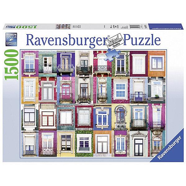 Пазл «Окна в Порту» 1500 штПазлы до 2000 деталей<br>Характеристики:<br><br>• тип игрушки: пазл;<br>• комплектация: 1500 эл.;<br>• бренд: Ravensburger;<br>• упаковка: картон;<br>• размер: 27х6х37 см;<br>• вес: 1,1 кг;<br>• возраст: от 4 лет;<br>• материал: картон.<br><br>Пазл «Окна в Порту» 1500 шт представляет из себя увлекательную игру для детей от четырех лет. Набор состоит из 1500 деталей, выполненных из высококачественного картона. Из них предлагается собрать  изображение большого количества окон разной формы, разных стилей и цветов.<br><br>Пазл сделан из плотного картона, с нанесением яркого красочного рисунка и аккуратной вырубкой деталей с четкими гладкими краями, которые позволяют легко состыковывать элементы пазла между собой. Сборка данного пазла сможет увлечь детей и поспособствовать развитию логического мышления и усидчивости.  Они также развивают образное мышление, наблюдательность и внимательность, а также мелкую моторику и координацию движений рук. Собранную картинку можно поместить в рамку и использовать ее в качестве украшения интерьера.<br><br>Пазл «Окна в Порту» 1500 шт можно купить в нашем интернет-магазине.<br>Ширина мм: 370; Глубина мм: 60; Высота мм: 270; Вес г: 1106; Возраст от месяцев: -2147483648; Возраст до месяцев: 2147483647; Пол: Унисекс; Возраст: Детский; SKU: 7377054;