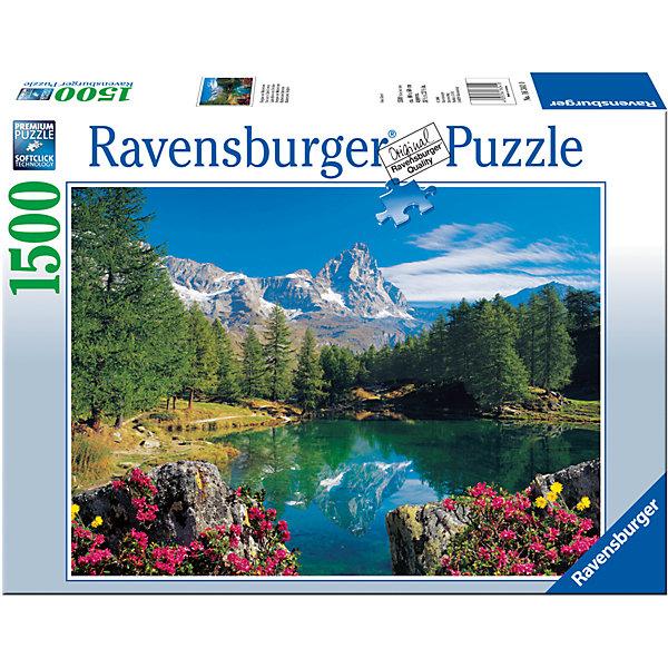 Пазл «Гора Маттерхорн» 1500 штПазлы до 2000 деталей<br>Характеристики:<br><br>• тип игрушки: пазл;<br>• комплектация: 1500 эл.;<br>• бренд: Ravensburger;<br>• упаковка: картон;<br>• размер: 27х8х37 см;<br>• вес: 1,1 кг;<br>• возраст: от 4 лет;<br>• материал: картон.<br><br>Пазл «Гора Маттерхорн» 1500 шт представляет из себя увлекательную игру для детей от четырех лет. Набор состоит из 1500 деталей, выполненных из высококачественного картона. Из них предлагается собрать  изображение красивых красочных гор. Большой пазл подходит как для детей, так и для взрослых.<br><br>Пазл сделан из плотного картона, с нанесением яркого красочного рисунка и аккуратной вырубкой деталей с четкими гладкими краями, которые позволяют легко состыковывать элементы пазла между собой. Сборка данного пазла сможет увлечь детей и поспособствовать развитию логического мышления и усидчивости.  Они также развивают образное мышление, наблюдательность и внимательность, а также мелкую моторику и координацию движений рук. Собранную картинку можно поместить в рамку и использовать ее в качестве украшения интерьера.<br><br>Пазл «Гора Маттерхорн» 1500 шт можно купить в нашем интернет-магазине.<br>Ширина мм: 370; Глубина мм: 80; Высота мм: 270; Вес г: 1106; Возраст от месяцев: -2147483648; Возраст до месяцев: 2147483647; Пол: Унисекс; Возраст: Детский; SKU: 7377070;