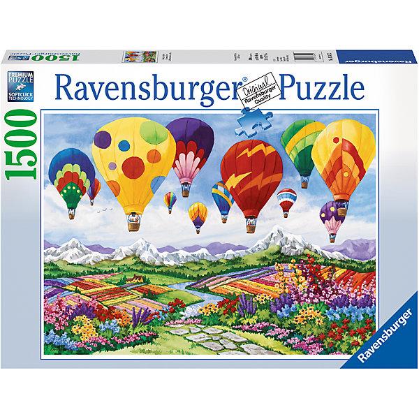 Пазл «Весна в воздухе» 1500 штПазлы до 2000 деталей<br>Характеристики:<br><br>• тип игрушки: пазл;<br>• комплектация: 1500 эл.;<br>• бренд: Ravensburger;<br>• упаковка: картон;<br>• размер: 27х9,5х37 см;<br>• вес: 1,1 кг;<br>• возраст: от 4 лет;<br>• материал: картон.<br><br>Пазл «Весна в воздухе» 1500 шт представляет из себя увлекательную игру для детей от четырех лет. Набор состоит из 1500 деталей, выполненных из высококачественного картона. Из них предлагается собрать  изображение множества разноцветных пестрых объектов. Целые цветущие плантации, протянувшиеся до самого горизонта, отлично передают весеннюю атмосферу, а в небо, словно отмечая приход весны, взлетело множество воздушных шаров, не менее красочных, чем цветы на земле.Большой пазл подходит как для детей, так и для взрослых.<br><br>Пазл сделан из плотного картона, с нанесением яркого красочного рисунка и аккуратной вырубкой деталей с четкими гладкими краями, которые позволяют легко состыковывать элементы пазла между собой. Сборка данного пазла сможет увлечь детей и поспособствовать развитию логического мышления и усидчивости.  Они также развивают образное мышление, наблюдательность и внимательность, а также мелкую моторику и координацию движений рук. Собранную картинку можно поместить в рамку и использовать ее в качестве украшения интерьера.<br><br>Пазл «Весна в воздухе» 1500 шт можно купить в нашем интернет-магазине.<br>Ширина мм: 370; Глубина мм: 95; Высота мм: 270; Вес г: 1106; Возраст от месяцев: -2147483648; Возраст до месяцев: 2147483647; Пол: Унисекс; Возраст: Детский; SKU: 7377073;