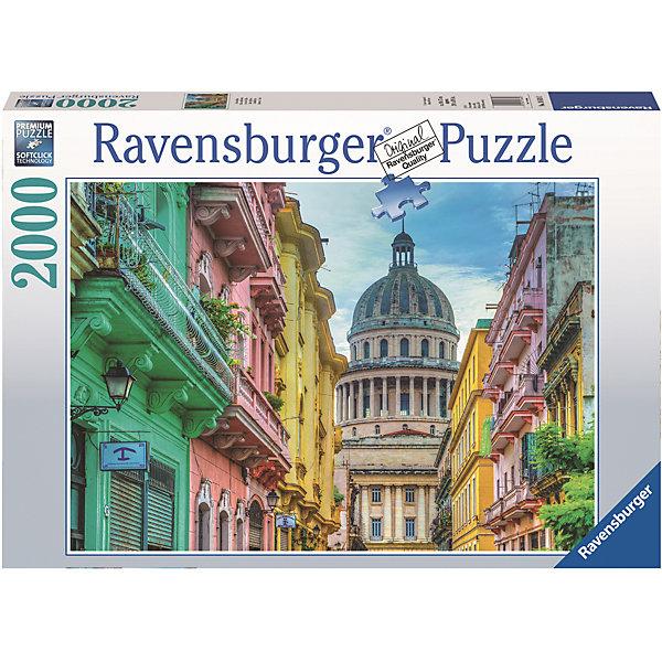 Пазл «Яркая Куба» 2000 штПазлы до 2000 деталей<br>Характеристики:<br><br>• тип игрушки: пазл;<br>• комплектация: 2000 эл.;<br>• бренд: Ravensburger;<br>• упаковка: картон;<br>• размер: 43х6х30 см;<br>• вес: 1,58 кг;<br>• возраст: от 4 лет;<br>• материал: картон.<br><br>Пазл «Яркая Куба» 2000 шт представляет из себя увлекательную игру для детей от четырех лет. Набор состоит из 2000 деталей, выполненных из высококачественного картона. Из них предлагается собрать  изображение яркой Кубы. Большой пазл подходит как для детей, так и для взрослых.<br><br>Пазл сделан из плотного картона, с нанесением яркого красочного рисунка и аккуратной вырубкой деталей с четкими гладкими краями, которые позволяют легко состыковывать элементы пазла между собой. Сборка данного пазла сможет увлечь детей и поспособствовать развитию логического мышления и усидчивости.  Они также развивают образное мышление, наблюдательность и внимательность, а также мелкую моторику и координацию движений рук. Собранную картинку можно поместить в рамку и использовать ее в качестве украшения интерьера.<br><br>Пазл «Яркая Куба» 2000 шт можно купить в нашем интернет-магазине.<br>Ширина мм: 430; Глубина мм: 60; Высота мм: 300; Вес г: 1553; Возраст от месяцев: -2147483648; Возраст до месяцев: 2147483647; Пол: Унисекс; Возраст: Детский; SKU: 7377081;