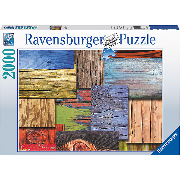 Пазл «Деревянная мозаика» 2000 штПазлы классические<br>Характеристики:<br><br>• тип игрушки: пазл;<br>• комплектация: 2000 эл.;<br>• бренд: Ravensburger;<br>• упаковка: картон;<br>• размер: 43х6х30 см;<br>• вес: 1,55 кг;<br>• возраст: от 4 лет;<br>• материал: картон.<br><br>Пазл «Деревянная мозаика» 2000 шт представляет из себя увлекательную игру для детей от четырех лет. Набор состоит из 2000 деталей, выполненных из высококачественного картона. Из них предлагается собрать  изображение  деревянной мозаики. Большой пазл подходит как для детей, так и для взрослых.<br><br>Пазл сделан из плотного картона, с нанесением яркого красочного рисунка и аккуратной вырубкой деталей с четкими гладкими краями, которые позволяют легко состыковывать элементы пазла между собой. Сборка данного пазла сможет увлечь детей и поспособствовать развитию логического мышления и усидчивости.  Они также развивают образное мышление, наблюдательность и внимательность, а также мелкую моторику и координацию движений рук. Собранную картинку можно поместить в рамку и использовать ее в качестве украшения интерьера.<br><br>Пазл «Деревянная мозаика» 2000 шт можно купить в нашем интернет-магазине.<br><br>Ширина мм: 430<br>Глубина мм: 60<br>Высота мм: 300<br>Вес г: 1553<br>Возраст от месяцев: -2147483648<br>Возраст до месяцев: 2147483647<br>Пол: Унисекс<br>Возраст: Детский<br>SKU: 7377084