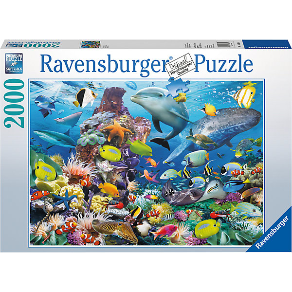 Пазл «На морской глубине» 2000 штПазлы до 2000 деталей<br>Характеристики:<br><br>• тип игрушки: пазл;<br>• комплектация: 2000 эл.;<br>• бренд: Ravensburger;<br>• упаковка: картон;<br>• размер: 43х6х30 см;<br>• вес: 1,55 кг;<br>• возраст: от 4 лет;<br>• материал: картон.<br><br>Пазл «На морской глубине» 2000 шт представляет из себя увлекательную игру для детей от четырех лет. Набор состоит из 2000 деталей, выполненных из высококачественного картона. Из них предлагается собрать  изображение подводного мира с его обитателями. Большой пазл подходит как для детей, так и для взрослых.<br><br>Пазл сделан из плотного картона, с нанесением яркого красочного рисунка и аккуратной вырубкой деталей с четкими гладкими краями, которые позволяют легко состыковывать элементы пазла между собой. Сборка данного пазла сможет увлечь детей и поспособствовать развитию логического мышления и усидчивости.  Они также развивают образное мышление, наблюдательность и внимательность, а также мелкую моторику и координацию движений рук. Собранную картинку можно поместить в рамку и использовать ее в качестве украшения интерьера.<br><br>Пазл «На морской глубине» 2000 шт можно купить в нашем интернет-магазине.<br>Ширина мм: 430; Глубина мм: 60; Высота мм: 300; Вес г: 1553; Возраст от месяцев: -2147483648; Возраст до месяцев: 2147483647; Пол: Унисекс; Возраст: Детский; SKU: 7377087;