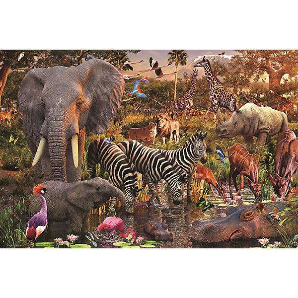 Пазл «Животные Африки» 3000 штПазлы классические<br>Характеристики:<br><br>• тип игрушки: пазл;<br>• комплектация: 3000 эл.;<br>• бренд: Ravensburger;<br>• упаковка: картон;<br>• размер: 43х5,5х30 см;<br>• вес: 1,9 кг;<br>• возраст: от 4 лет;<br>• материал: картон.<br><br>Пазл «Животные Африки» 3000 шт представляет из себя увлекательную игру для детей от четырех лет. Набор состоит из 3000 деталей, выполненных из высококачественного картона. Из них предлагается собрать  изображение диких животных Африки. Большой пазл подходит как для детей, так и для взрослых.<br><br>Пазл сделан из плотного картона, с нанесением яркого красочного рисунка и аккуратной вырубкой деталей с четкими гладкими краями, которые позволяют легко состыковывать элементы пазла между собой. Сборка данного пазла сможет увлечь детей и поспособствовать развитию логического мышления и усидчивости.  Они также развивают образное мышление, наблюдательность и внимательность, а также мелкую моторику и координацию движений рук. Собранную картинку можно поместить в рамку и использовать ее в качестве украшения интерьера.<br><br>Пазл «Животные Африки» 3000 шт можно купить в нашем интернет-магазине.<br>Ширина мм: 430; Глубина мм: 55; Высота мм: 300; Вес г: 1885; Возраст от месяцев: -2147483648; Возраст до месяцев: 2147483647; Пол: Унисекс; Возраст: Детский; SKU: 7377091;