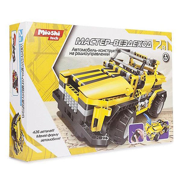 Конструктор 2 в 1 Mioshi Радиоуправляемый автомобиль Мастер-ВездеходРадиоуправляемые машины<br>Характеристики:<br><br>• возраст: от 6 лет;<br>• материал: пластик, металл;<br>• в комплекте: 426 деталей, ПДУ, аккумуляторная батарея 3.6 В, USB шнур для зарядки аккумуляторной батареи, инструкция RUS;<br>• размер модели: 29х14х14 см;<br>• вес упаковки: 850 гр.;<br>• размер упаковки: 42х29х9 см;<br>• страна производитель: Китай.<br> <br>Радиоуправляемый автомобиль-конструктор «Мастер-Вездеход» от Mioshi имеет два варианта сборки, оба из которых демонстрируют внушительные машины. Управлять собранным автомобилем можно дистанционно с помощью пульта.<br><br>Конструктор имеет отличное скрепление деталей, отличается прочностью и необычным дизайном. Во время езды по ровной поверхности пола или бугристому асфальту игрушка останется целой. Чтобы собрать все элементы, понадобится вся логика, фантазия и ловкость ребенка. Облегчить задачу поможет русскоязычная инструкция.<br><br>Р/у автомобиль-конструктор 2в1 «Мастер-Вездеход» можно купить в нашем интернет-магазине.<br><br>Ширина мм: 420<br>Глубина мм: 290<br>Высота мм: 90<br>Вес г: 850<br>Возраст от месяцев: 72<br>Возраст до месяцев: 1188<br>Пол: Мужской<br>Возраст: Детский<br>SKU: 7377545