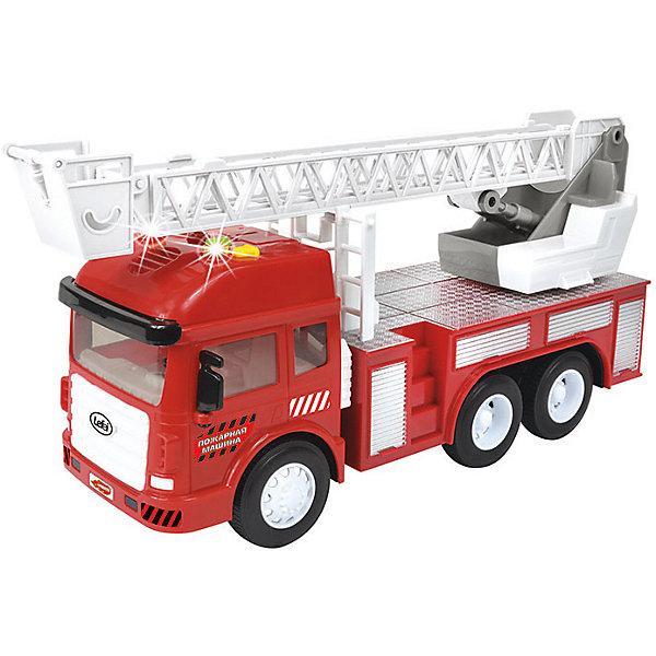Машинка Handers Городские службы Пожарная машинка (свет, звук)Машинки<br>Характеристики:<br><br>• возраст: от 3 лет;<br>• материал: пластик;<br>• функции: фрикционный механизм движения, свет, звук;<br>• тип батареек: 3хAG13;<br>• наличие батареек: в комплекте<br>• размер игрушки: 31х9,5х15,5 см;<br>• вес упаковки: 650 гр.;<br>• размер упаковки: 32х21х11,5 см;<br>• страна производитель: Китай.<br><br>Игрушечная пожарная машина Handers может ехать самостоятельно с помощью фрикционного механизма, то есть, если прижать игрушку к полу и сделать несколько поступательных движений. Кроме того, в игрушке есть световые и звуковые эффекты, которые создают настоящий антураж во время игры. Интересное дополнение модели — возможность регулировать длину пожарной лестницы, вращать ее и использовать подъемный механизм.<br><br>Фрикционную игрушку «Городские службы: Пожарная машина» можно купить в нашем интернет-магазине.<br>Ширина мм: 320; Глубина мм: 210; Высота мм: 115; Вес г: 650; Возраст от месяцев: 36; Возраст до месяцев: 72; Пол: Мужской; Возраст: Детский; SKU: 7377549;