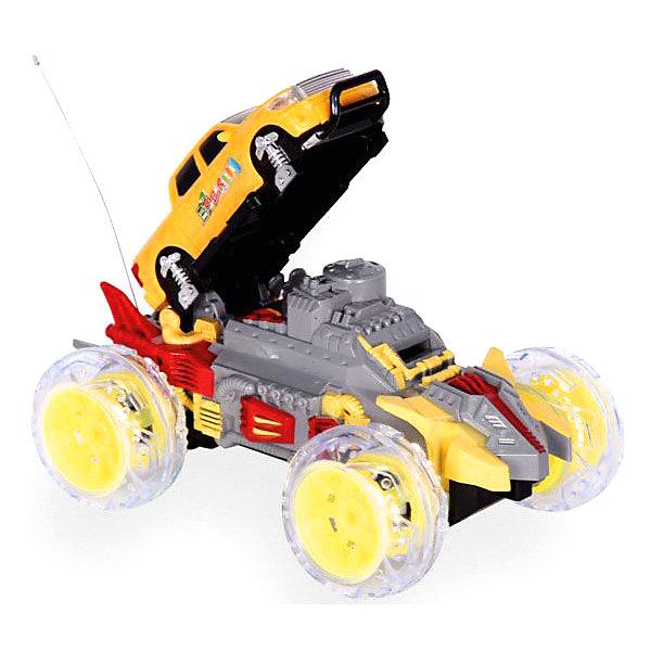 Радиоуправляемая машинка Mioshi Disc shooter 24.5 см, желтаяРадиоуправляемые машины<br>Характеристики:<br><br>• возраст: от 6 лет;<br>• материал: пластик;<br>• в комплекте: машинка, пульт управления, мягкие диски для стрельбы, зарядное устройство, аккумуляторная батарейка для автомобиля;<br>• тип батареек: 1х9V (Крона);<br>• наличие батареек: в комплекте;<br>• время игры: 15 минут;<br>• время зарядки: 2 часа;<br>• вес упаковки: 1 кг.;<br>• размер упаковки: 33х24х20 см;<br>• страна производитель: Китай.<br><br>Радиоуправляемый автомобиль Disc shooter от Mioshi обладает мощными колесами и подвеской, благодаря которым легко преодолевает разные препятствия на своем пути. Игрушка трансформируется и может стрелять мягкими дисками. Машина едет в 4 стороны, управление происходит через удобный пульт с рычагами.<br><br>Колеса автомобиля подсвечены, имеется звуковое сопровождение, также при движении можно включить одну из 3-х музыкальных мелодий. Детали крепко соединены между собой, поэтому машине не страшны несильные удары и падения.<br><br>Автомобиль р/у «Disc shooter» (желтый, 24,5 см) можно купить в нашем интернет-магазине.<br>Ширина мм: 330; Глубина мм: 240; Высота мм: 200; Вес г: 1000; Возраст от месяцев: 72; Возраст до месяцев: 1188; Пол: Мужской; Возраст: Детский; SKU: 7377559;