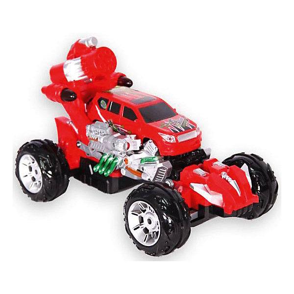 Радиоуправляемая машинка Mioshi Rocket bomber 31 см, краснаяРадиоуправляемые машины<br>Характеристики:<br><br>• возраст: от 6 лет;<br>• материал: пластик;<br>• в комплекте: машинка, пульт управления, 10 ракет-присосок, мишень, зарядное устройство, аккумуляторная батарейка для автомобиля;<br>• тип батареек: 2хАА;<br>• наличие батареек: в комплекте;<br>• вес упаковки: 1 кг.;<br>• размер упаковки: 38,3х26х21,8 см;<br>• страна производитель: Китай.<br><br>Радиоуправляемый автомобиль Rocket bomber от Mioshi обладает мощными колесами и подвеской, благодаря которым легко преодолевает разные препятствия на своем пути. Игрушка трансформируется и может стрелять ракетами-присосками прямо в цель! Машина едет в 4 стороны, управление происходит через удобный пульт с рычагами.<br><br>Колеса автомобиля подсвечены, имеется звуковое сопровождение. Детали крепко соединены между собой, поэтому машине не страшны несильные удары и падения.<br><br>Автомобиль р/у «Rocket bomber» (красный, 31 см) можно купить в нашем интернет-магазине.<br>Ширина мм: 383; Глубина мм: 260; Высота мм: 218; Вес г: 1000; Возраст от месяцев: 72; Возраст до месяцев: 1188; Пол: Мужской; Возраст: Детский; SKU: 7377561;