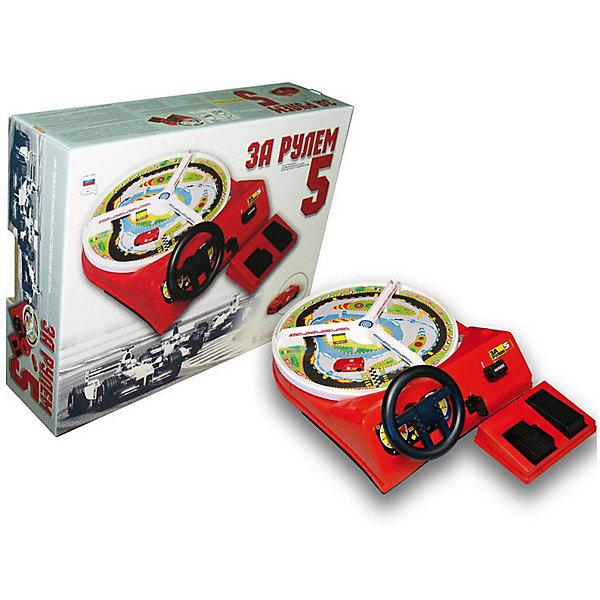 Настольная игра За рулем-5, с педалямиНастольные игры для всей семьи<br>Характеристики товара:<br><br>• возраст: от 4 лет;<br>• работает от 2 батареек типа типа LR14;<br>• батарейки в комплект не входят;<br>• материал: пластик;<br>• размер: 45х35х12 см;<br>• вес: 1840 гр.;<br>• страна производства: Россия.<br><br>«За рулём – 5»  - игрушка занимательна для детей и подростков любого возраста, способствует приобретению элементарных навыков управления<br> автомобилем, развивает реакцию и наблюдательность, необходимые для вождения автомобиля. <br><br>Игра с педальным приводом, на котором расположен тормоз и газ, заводится кнопкой Пуск, с механическим переключением скоростей (3 скорости). Движение автомобиля по иллюстрированному кругу с разметками направления пути.<br><br>Игру За рулем 5 с педалями можно купить в нашем интернет-магазине.<br><br>Ширина мм: 443<br>Глубина мм: 345<br>Высота мм: 115<br>Вес г: 1840<br>Возраст от месяцев: 48<br>Возраст до месяцев: 120<br>Пол: Унисекс<br>Возраст: Детский<br>SKU: 7377658