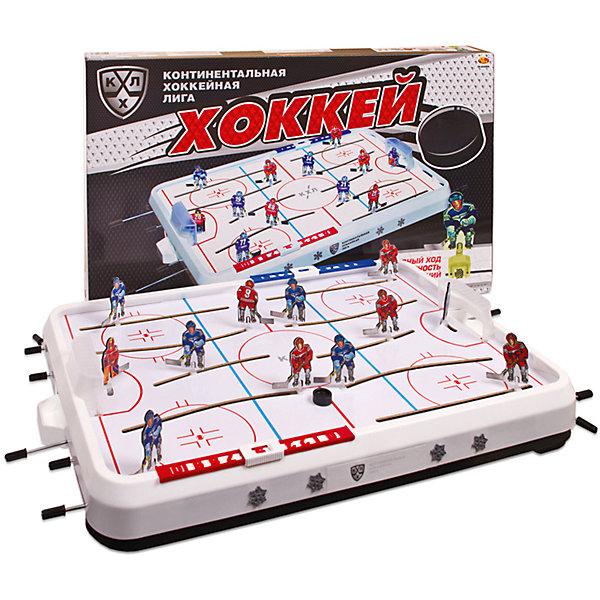 Настольная игра Хоккей КХЛСпортивные настольные игры<br>Характеристики товара:<br><br>• возраст: от 3 лет;<br>• тип: механическая;<br>• материал: пластик;<br>• размер: 75х47х9 см;<br>• вес: 2910 гр.;<br>• страна производства: Россия.<br><br>Реальные чемпионаты по игре в хоккей есть возможность проводить дома! В коробке есть все, что нужно для воспроизведения живой атмосферы увлекательной игры. <br><br>Настольный хоккей принесет в ваш дом спортивный азарт, даст возможность почувствовать радость победы и удовольствие в общении с друзьями.<br><br>Настольную игру Хоккей КХЛ можно купить в нашем интернет-магазине.<br>Ширина мм: 750; Глубина мм: 470; Высота мм: 90; Вес г: 2910; Возраст от месяцев: 36; Возраст до месяцев: 120; Пол: Унисекс; Возраст: Детский; SKU: 7377659;