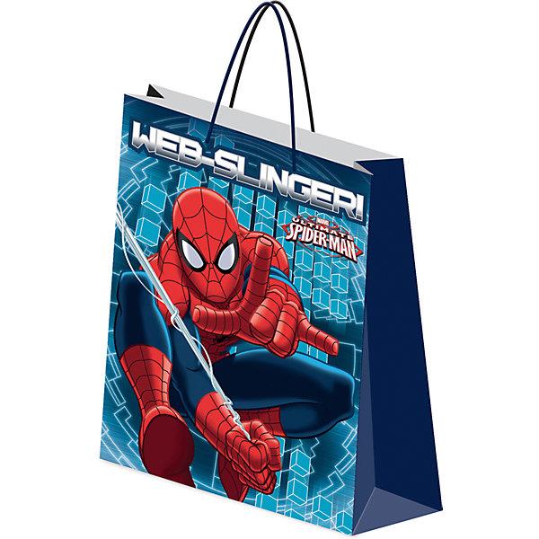 Пакет подарочный. Spider-manДетские подарочные пакеты<br>Характеристики:<br><br>• вес:  64г.;<br>• материал:  бумага;<br>• размер:28х34х9см.;<br>• для детей в возрасте: от 3 лет.;<br>• страна производитель: Россия.<br><br>Подарочный бумажный пакет бренда «Regalissimi» (Регалисими)из серии «Disney Spider-man»(Дисней Cпайдер-мен) станет прекрасным дополнением для любого детского подарка.Он создан из высококачественных, экологически чистых материалов, что очень важно для детских товаров.<br><br> Оформление для подарочной упаковки разработано итальянскими дизайнерами и пользуется неизменно высоким спросом на протяжении нескольких лет. Коллекции созданы с учётом цветовой гармонизации ряда, что позволяет оформлять подарки в едином стиле.  <br>                 <br>Подарочный бумажный пакет, можно купить в нашем интернет-магазине.<br><br>Ширина мм: 2<br>Глубина мм: 280<br>Высота мм: 340<br>Вес г: 62<br>Возраст от месяцев: 36<br>Возраст до месяцев: 96<br>Пол: Мужской<br>Возраст: Детский<br>SKU: 7377670