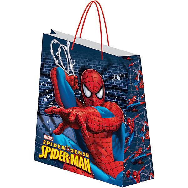 Пакет подарочный,  Spider-manДетские подарочные пакеты<br>Характеристики:<br><br>• вес:  100г.;<br>• материал:  бумага;<br>• размер:33х43х10см.;<br>• для детей в возрасте: от 3 лет.;<br>• страна производитель: Россия.<br><br>Подарочный бумажный пакет бренда «Regalissimi» (Регалисими)из серии «Disney Spider-man»(Дисней Cпайдер-мен) станет прекрасным дополнением для любого детского подарка.Он создан из высококачественных, экологически чистых материалов, что очень важно для детских товаров.<br><br> Оформление для подарочной упаковки разработано итальянскими дизайнерами и пользуется неизменно высоким спросом на протяжении нескольких лет. Коллекции созданы с учётом цветовой гармонизации ряда, что позволяет оформлять подарки в едином стиле. <br>                  <br>Подарочный бумажный пакет, можно купить в нашем интернет-магазине.<br><br>Ширина мм: 2<br>Глубина мм: 330<br>Высота мм: 430<br>Вес г: 100<br>Возраст от месяцев: 36<br>Возраст до месяцев: 96<br>Пол: Мужской<br>Возраст: Детский<br>SKU: 7377676