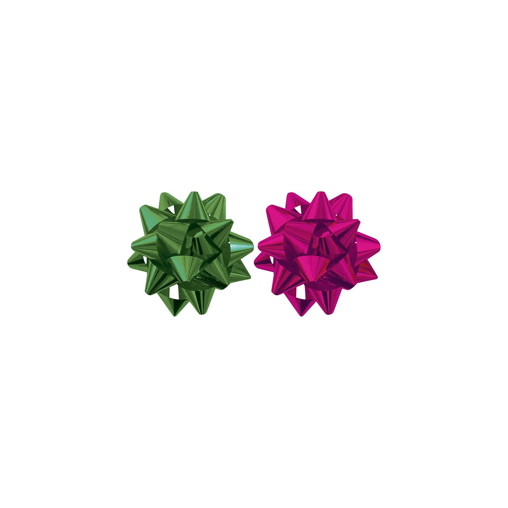 Набор из 2-х металлизированых бантов-цветков (малых). от myToys