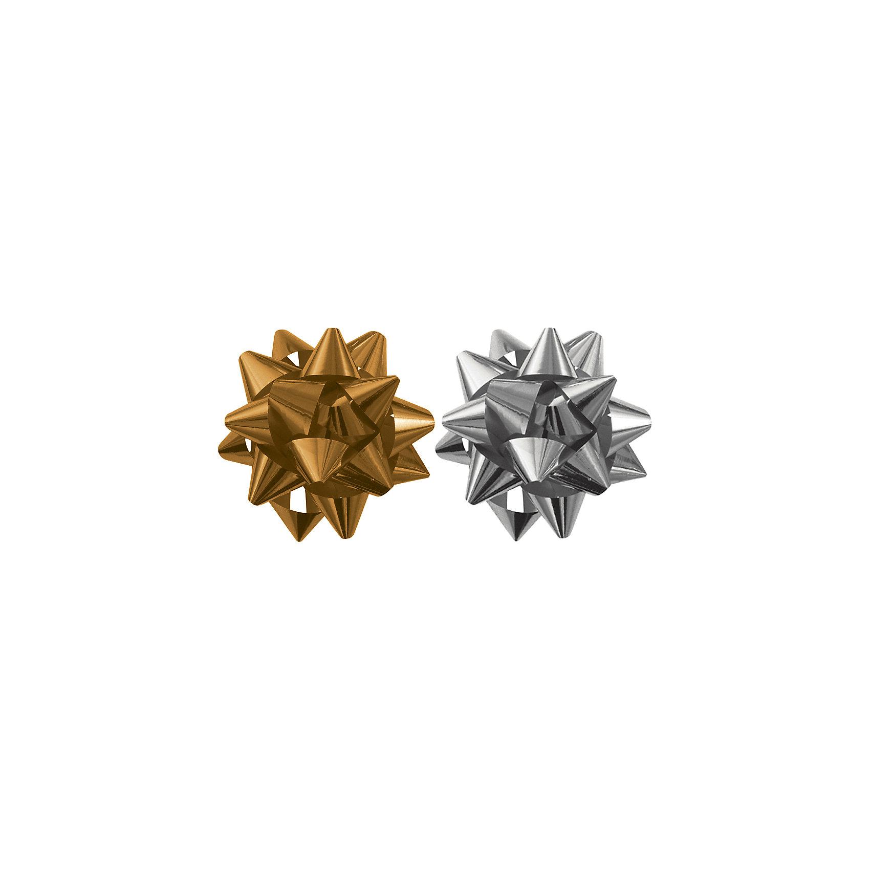 Бант-звезда, 2 штуки в PP пакете (золотой, серебряный). от myToys