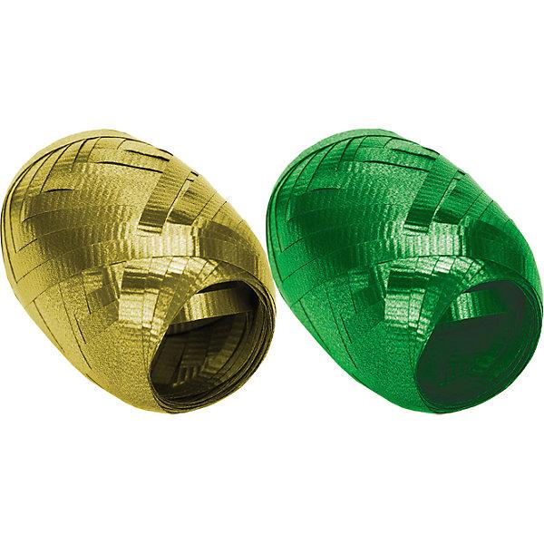 Набор из 2-х упаковочных металлизированных лент.  RegalissimiУпаковка новогоднего подарка<br>Характеристики:<br><br>• вес: 9г.;<br>• материал: металлизированное покрытие;<br>• размер упаковки: 13х10х3см.;<br>• для детей в возрасте: от 3 лет.;<br>• страна производитель: Россия.<br><br>Набор из двух мотков металлизированной ленты золотого и зелёного цвета, бренда «Regalissimi» (Регалисими) станет прекрасным украшением упаковки любого детского подарка.Он создан из высококачественных, экологически чистых материалов, что очень важно для детских товаров.<br><br> Оформление для подарочной упаковки разработано итальянскими дизайнерами и пользуется неизменно высоким спросом на протяжении нескольких лет. Коллекции созданы с учётом цветовой гармонизации ряда, что позволяет оформлять подарки в едином стиле. <br>                  <br>Набор металлизированной ленты, можно купить в нашем интернет-магазине.<br><br>Ширина мм: 130<br>Глубина мм: 100<br>Высота мм: 30<br>Вес г: 9<br>Возраст от месяцев: 36<br>Возраст до месяцев: 2147483647<br>Пол: Унисекс<br>Возраст: Детский<br>SKU: 7377701