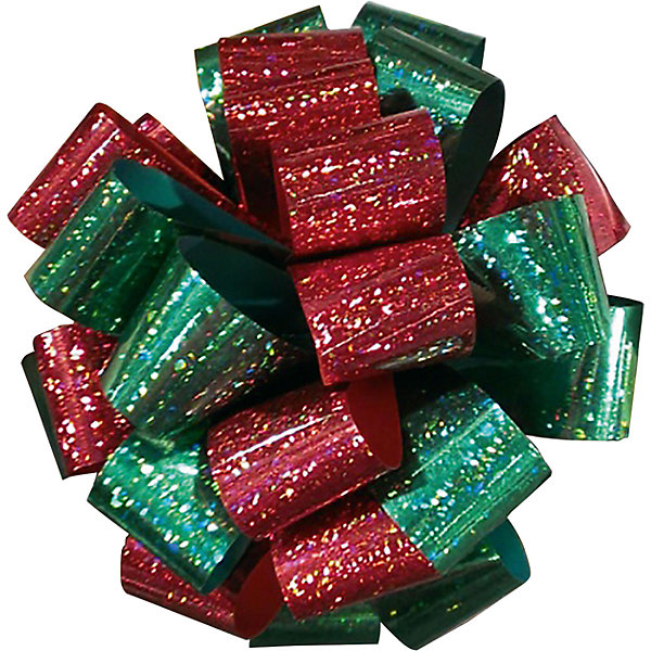 Подарочный двуцветный голографический бантRegalissimiНовогодние подарочные ленты<br>Характеристики:<br><br>• вес: 10г.;<br>• материал:  фольга;<br>• размер упаковки: 10х10х2см.;<br>• для детей в возрасте: от 3 лет.;<br>• страна производитель: Россия.<br><br>Большой металлизированный бант зелёно-красного цвета, бренда «Regalissimi» (Регалисими) станет прекрасным украшением упаковки любого детского подарка.Он создан из высококачественных, экологически чистых материалов, что очень важно для детских товаров.<br><br> Оформление для подарочной упаковки разработано итальянскими дизайнерами и пользуется неизменно высоким спросом на протяжении нескольких лет. Коллекции созданы с учётом цветовой гармонизации ряда, что позволяет оформлять подарки в едином стиле.   <br>                <br>Большой металлизированный бант зелёно-красного цвета, можно купить в нашем интернет-магазине.<br><br>Ширина мм: 100<br>Глубина мм: 100<br>Высота мм: 20<br>Вес г: 10<br>Возраст от месяцев: 36<br>Возраст до месяцев: 2147483647<br>Пол: Унисекс<br>Возраст: Детский<br>SKU: 7377706