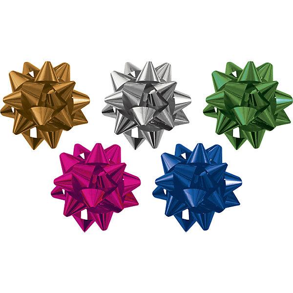 Набор из 5-и металлизированых бантов-цветков (малых) для праздничной упаковки.Упаковка новогоднего подарка<br>Характеристики:<br><br>• вес: 20г.;<br>• материал:  металлизированное покрытие;<br>• размер упаковки: 13х13х0,5см.;<br>• для детей в возрасте: от 3 лет.;<br>• страна производитель: Россия.<br><br>Набор из пяти металлизированных бантов-цветков (малых) разного цвета, в пакете с подвесом бренда «Regalissimi» (Регалисими) станет прекрасным украшением упаковки любого детского подарка. Он создан из высококачественных, экологически чистых материалов, что очень важно для детских товаров.<br><br> Оформление для подарочной упаковки разработано итальянскими дизайнерами и пользуется неизменно высоким спросом на протяжении нескольких лет. Коллекции созданы с учётом цветовой гармонизации ряда, что позволяет оформлять подарки в едином стиле. <br>                  <br>Набор из пяти металлизированных бантов-цветков (малых), можно купить в нашем интернет-магазине.<br><br>Ширина мм: 130<br>Глубина мм: 130<br>Высота мм: 5<br>Вес г: 20<br>Возраст от месяцев: 36<br>Возраст до месяцев: 2147483647<br>Пол: Унисекс<br>Возраст: Детский<br>SKU: 7377713