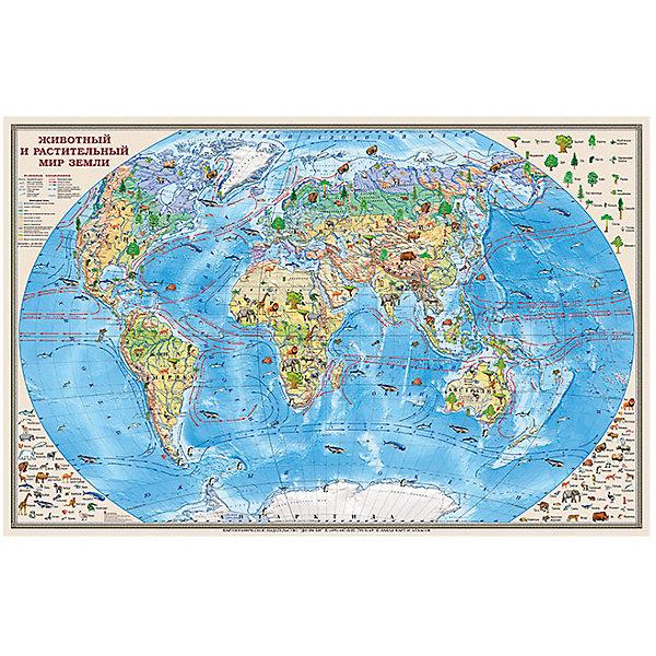 Карта Животный и растительный мир Земли 1:35МАтласы и карты<br>Характеристики:<br><br>• возраст: от 3 лет;<br>• материал: ламинированная бумага;<br>• масштаб: 1:35 000 000;<br>• упаковка: картонный тубус;<br>• размер: 90х58 см;<br>• вес упаковки: 208 гр.;<br>• размер упаковки: 62х5,6х5,6 см;<br>• издательство: DMB;<br>• страна производитель: Россия.<br><br>Карту «Животный и растительный мир Земли» можно рассматривать часами. Вся флора и фауна планеты отражены на красочном изображении мира по месту их обитания. Занятия с картой развивают память и помогают ребенку запомнить разные названия.<br><br>Обозначения интуитивно понятны, а сама карта — отличное украшение для стены в детской комнате. Ламинированное покрытие с антибликом бережет изображение от выцветания и порчи. Для удобной переноски предусмотрен твердый тубус из картона.<br><br>Карту «Животный и растительный мир Земли» 1:35М можно купить в нашем интернет-магазине.<br>Ширина мм: 620; Глубина мм: 56; Высота мм: 56; Вес г: 208; Возраст от месяцев: 36; Возраст до месяцев: 144; Пол: Унисекс; Возраст: Детский; SKU: 7378611;