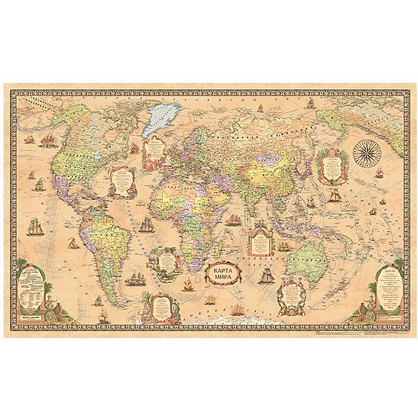 Карта Мира, Политическая, Стиль Ретро, 1:25МАтласы и карты<br>Характеристики:<br><br>• возраст: от 3 лет;<br>• материал: ламинированная бумага;<br>• масштаб: 1:25 000 000;<br>• упаковка: картонный тубус;<br>• размер: 122х79 см;<br>• вес упаковки: 324 гр.;<br>• размер упаковки: 96х5,6х5,6 см;<br>• издательство: DMB;<br>• страна производитель: Россия.<br><br>Современная карта мира в ретро оформлении — отличное настенное украшение для дома или офиса. Политическая карта с отображением стран, столиц, больших городов поможет в изучении названий населенных пунктов Земли и их принадлежности. Изучение географии расширяет кругозор и тренирует память. Ламинированное покрытие с антибликом бережет карту от выцветания и порчи. Для удобной переноски предусмотрен твердый тубус из картона.<br><br>Карту мира, политическую, стиль ретро, 1:25М можно купить к нашем интернет-магазине.<br>Ширина мм: 960; Глубина мм: 56; Высота мм: 56; Вес г: 324; Возраст от месяцев: 36; Возраст до месяцев: 144; Пол: Унисекс; Возраст: Детский; SKU: 7378619;