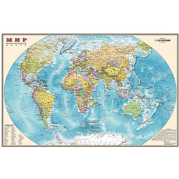 Настольная карта Мира, политическая, 1:55М, двухсторонняяАтласы и карты<br>Характеристики:<br><br>• возраст: от 3 лет;<br>• масштаб: 1:55 000 000;<br>• размер: 54х37 см;<br>• вес упаковки: 85 гр.;<br>• размер упаковки: 58х3,7х4 см;<br>• издательство: DMB;<br>• страна производитель: Россия.<br><br>Компактная карта мира удобно разместится на столе, будет всегда под рукой, что поспособствует быстрому и легкому запоминанию названий городов, стран, рек, морей, их расположения. Карта отражает полное политико-административное устройство мира на сегодняшний день. Оборотная сторона содержит информацию о флагах всех государств.<br><br>Настольную карту мира, политическую, 1:55М, двухстороннюю можно купить в нашем интернет-магазине.<br>Ширина мм: 580; Глубина мм: 37; Высота мм: 4; Вес г: 85; Возраст от месяцев: 36; Возраст до месяцев: 144; Пол: Унисекс; Возраст: Детский; SKU: 7378636;